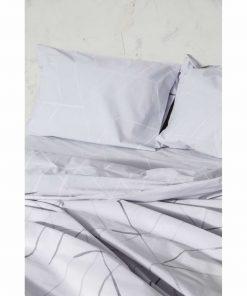 Σετ Περκάλι Σεντόνια Διπλά ASYMMETRY της NIMA HOME (200x260) GRAY