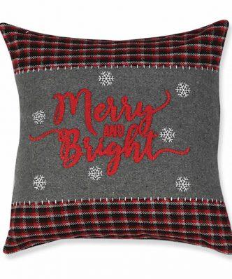 Χριστουγεννιάτικο Διακοσμητικό Μαξιλάρι BRIGHT (45x45) της NEF-NEF