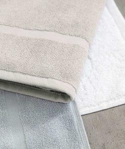 Ξενοδοχειακό Πατάκι Μπάνιου (50x75) DOBBY WHITE - 650gsm / 100% Βαμβάκι