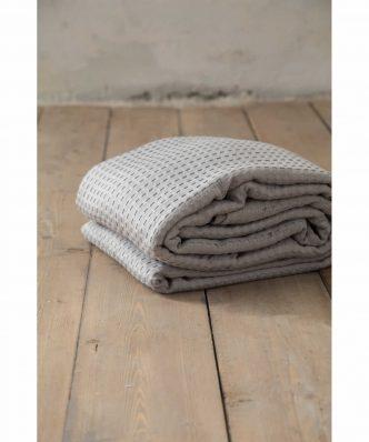 Ξενοδοχειακή Κουβέρτα (170x270) HABIT LIGHT GRAY - 275gsm / 100% Βαμβάκι