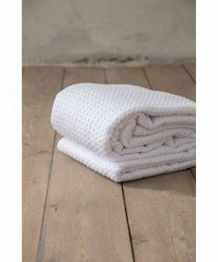 Ξενοδοχειακή Κουβέρτα (240x270) HABIT WHITE - 275gsm / 100% Βαμβάκι