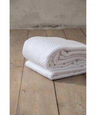 Ξενοδοχειακή Κουβέρτα (170x270) HABIT WHITE - 275gsm / 100% Βαμβάκι