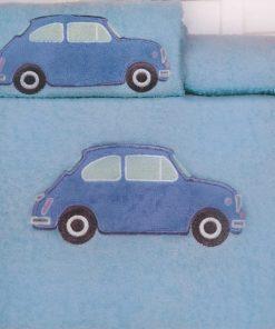 Σετ Παιδικές Πετσέτες (2 τμχ.) CAR LIGHT BLUE της Palamaiki