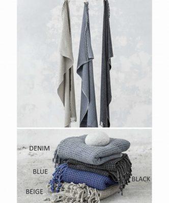 Πετσέτα/Παρεό ASSORT της NIMA HOME (100x170) NAVY