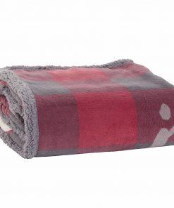 Fleece Κουβέρτα Καναπέ / Ριχτάρι (130x170) COLD OUTSIDE BORDO της NEF-NEF