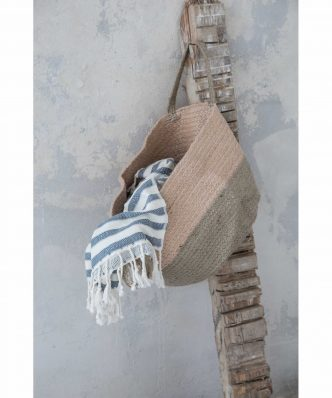 Καλάθι CORN της NIMA HOME (25x40x25) LIGHT SALMON