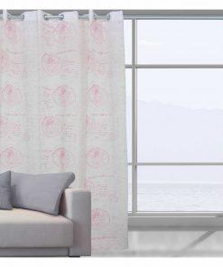 Κουρτίνα με κρίκους (140x280) Curtain Line 2031 της Das Home