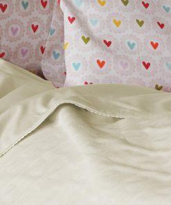 Βρεφική καλοκαιρινή Κουβέρτα Κούνιας (bebe) CUTE HEART ECRU της NEF-NEF