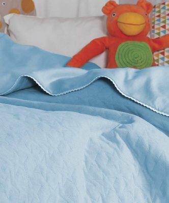Βρεφική καλοκαιρινή Κουβέρτα Λίκνου (bebe) CUTE STAR BLUE της NEF-NEF