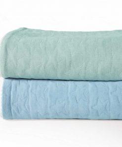 Βρεφική καλοκαιρινή Κουβέρτα Κούνιας (bebe) CUTE STAR BLUE της NEF-NEF