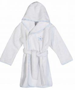 Βρεφικό Μπουρνούζι (bebe - No2) DREAM & WISHES BLUE της NEF-NEF