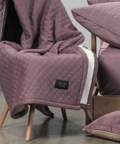 Κουβέρτα Καναπέ / Ριχτάρι με γουνάκι (130x170) Elements DIVISION ORCHID της NEF-NEF