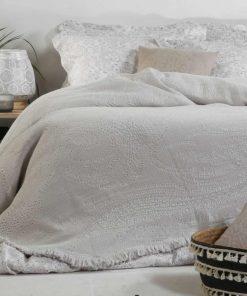 Κουβέρτα Υπέρδιπλη ELVIRA SMOKE της NEF-NEF