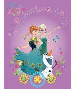 Αυθεντικό Παιδικό Χαλάκι (133x190) Digital Print FROZEN 5 της Disney