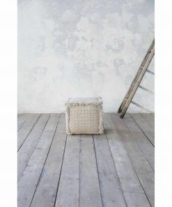 Πουφ GALTY της NIMA HOME (40x40x40) BEIGE