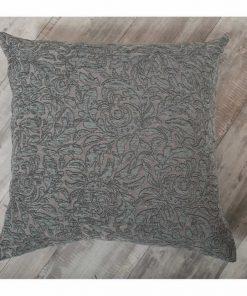 Διακοσμητική Μαξιλαροθήκη Δαπέδου (65x65) DENVER 04 ΜΠΛΕ ΡΑΦ της TEORAN