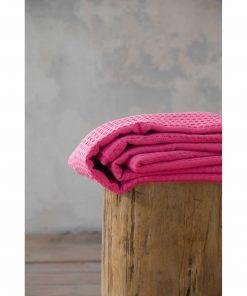 Πικέ Κουβέρτα Μονή HABIT της NIMA HOME (160x240) HOT PINK