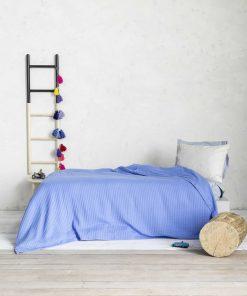 Πικέ Κουβέρτα Μονή HABIT της NIMA HOME (160x240) VIVID BLUE