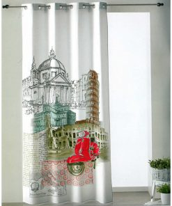 Έτοιμη Κουρτίνα (140x260) με τρουκς ITALIA ψηφιακής εκτύπωσης