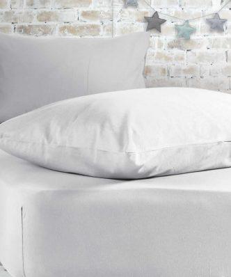 Σεντόνι Μονό με λάστιχο JERSEY 200-WHITE της NEF-NEF