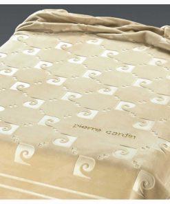 Υπέρδιπλη Βελουτέ Κουβέρτα Ισπανίας NANCY 654/15 της PIERRE CARDIN