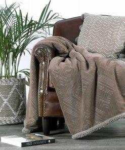 Fleece Κουβέρτα Καναπέ / Ριχτάρι με γουνάκι (130x170) PRIVILEGE STONE της NEF-NEF