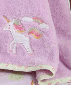 Fleece Βρεφική Κουβέρτα Αγκαλιάς (bebe) RAINBOW STORY της NEF-NEF