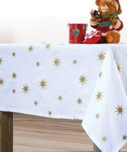Χριστουγεννιάτικο Τραπεζομάντηλο 140Χ180 RAINSTAR WHITE της NEF-NEF