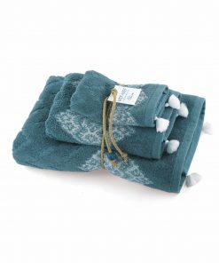Σετ Πετσέτες Μπάνιου (3τμχ) Blue STRONG της NEF-NEF
