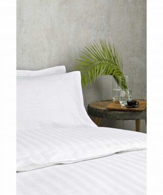 Ξενοδοχειακό Σεντόνι (185x280) ΣΑΤΕΝ ΡΙΓΑ 1cm - 230TC 60% Βαμβάκι / 40% Polyester