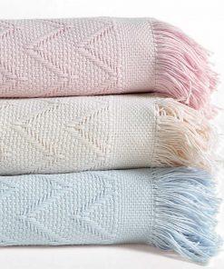 Βρεφική Βαμβακερή Κουβέρτα Κούνιας (bebe) TENDER PINK της NEF-NEF