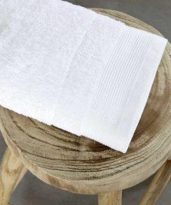 Ξενοδοχειακή Πετσέτα Προσώπου (50x100) RITZ WHITE - 600gsm / 100% Βαμβάκι