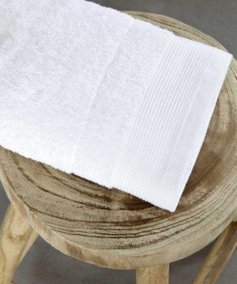 Ξενοδοχειακή Πετσέτα Χεριών (30x50) RITZ WHITE - 600gsm / 100% Βαμβάκι