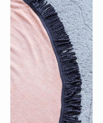Πετσέτα Θαλάσσης Στρογγυλή VIBE της NIMA HOME (Δ:150 cm) SALMON
