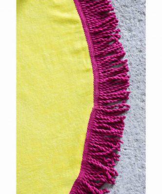 Πετσέτα Θαλάσσης Στρογγυλή VIBE της NIMA HOME (Δ:150 cm) YELLOW