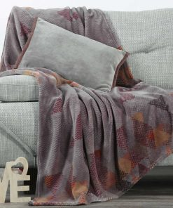 Fleece Κουβέρτα Καναπέ / Ριχτάρι (130x170) VITRO GREY της NEF-NEF