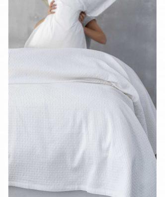 Κουβέρτα Πικέ Υπέρδιπλη ABBEY της Palamaiki (240x250) WHITE
