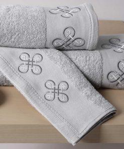 Σετ Πετσέτες Μπάνιου (3 τμχ.) CROSS SILVER της Sb Home