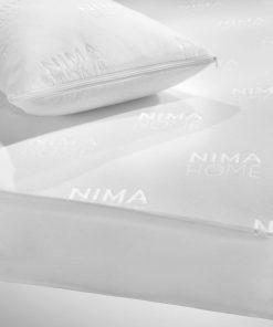 Βρεφικό Αδιάβροχο Επίστρωμα Κούνιας Abbraccio JACQUARD με Φούστα Jersey  της NIMA HOME