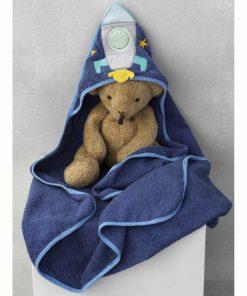 Βρεφική (bebe) Πετσέτα Με Κουκούλα New Baby NB-0124 της Palamaiki BLUE