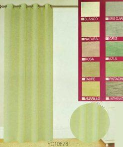 Έτοιμη Κουρτίνα (140x270) με τρουκς YC10878 - NATURAL