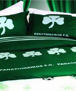 Αυθεντικό Σετ Παπλωματοθήκη Υπέρδιπλη 1005 PANATHINAIKOS της Palamaiki