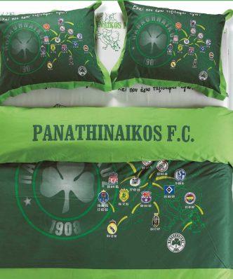 Σετ Αυθεντικά Σεντόνια Ημίδιπλα FC3, ΕΚΕΙ ΠΟΥ ΕΧΩ ΤΑΞΙΔΕΨΕΙ ΕΓΩ... / Panathinaikos Fitted (Μ.Λ.) της Palamaiki