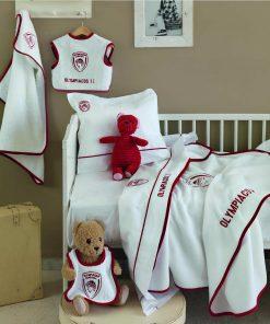 Βρεφική Πικέ Κουβέρτα Κούνιας (bebe) Official Team Licensed OLYMPIAKOS BABY της Palamaiki (120x150)