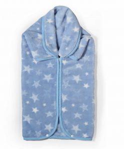 Βρεφική (bebe) Βελουτέ Κουβέρτα / Υπνόσακος ASTRO της NEF-NEF (80x90) - BLUE