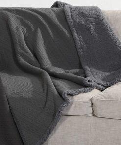 Διακοσμητικό Ριχτάρι / Κουβέρτα Καναπέ TRESS της NEF-NEF (130x170) GREY