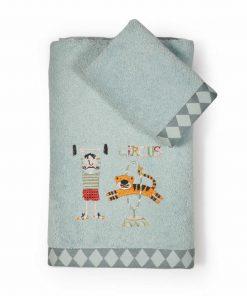 Σετ Παιδικές Πετσέτες Μπάνιου (2τμχ) CIRCUS BOYS της NEF-NEF (30x50+70x140)