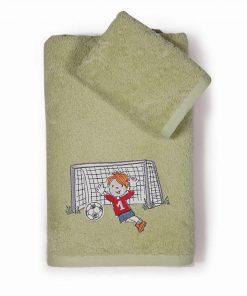Σετ Παιδικές Πετσέτες Μπάνιου (2τμχ) FOOTBALL GAME της NEF-NEF (30x50+70x140)