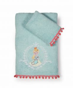 Σετ Παιδικές Πετσέτες Μπάνιου (2τμχ) PRINCESS DAY της NEF-NEF (30x50+70x140)