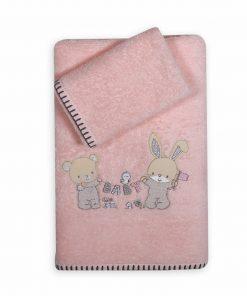 Σετ Βρεφικές (bebe) Πετσέτες (2τμχ) PLAY IN MY ROOM της NEF-NEF (30x50+70x140)